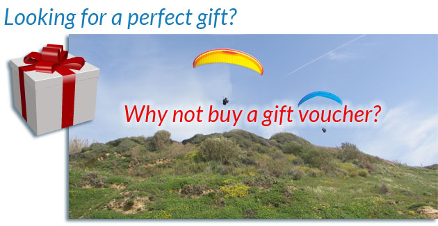 Why not buy a paragliding gift voucher?